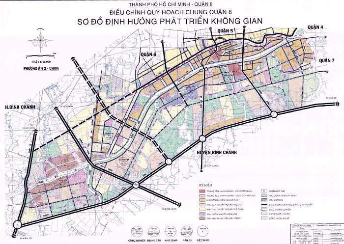 Bản đồ tại quận 8
