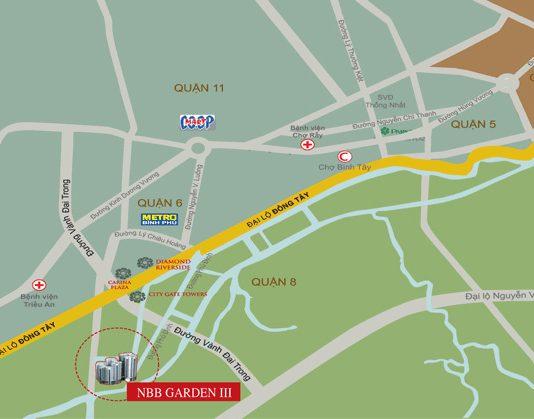 vị trí căn hộ city gate 3