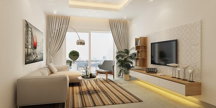 phòng khách căn hộ city gate 3 loại 3 phòng ngủ