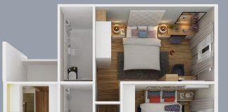 căn hộ city gate 2 loại 2 phòng ngủ