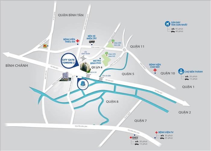 vị trí căn hộ city gate 2