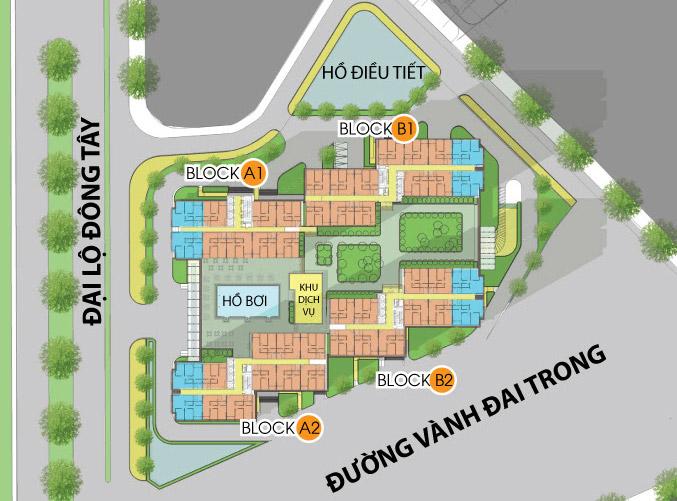 Phối cảnh quy hoạch tổng thể dự án City Gate Towers