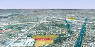 vị trí Khu căn hộ cao tầng nbb garden iii