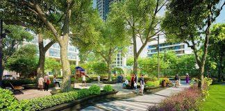 công viên đẹp ở căn hộ city gate