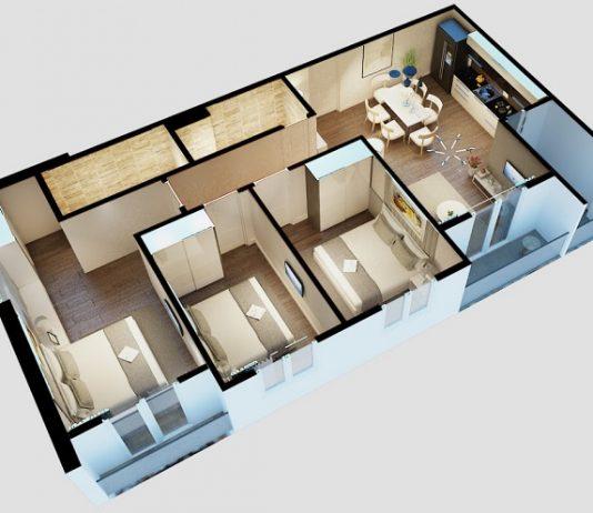 thiết kế ngon căn hộ city gate 3 quận 8